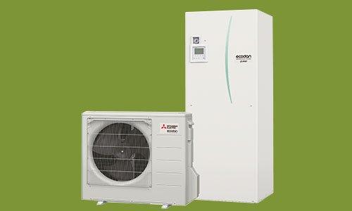 Mitsubishi Electric Ecodan CO²  QUHZ-W40VA – Utan miljöpåverkan